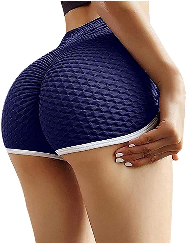 Butt Lifting Shorts,High Waisted Yoga Shorts for Women Drawstring Ruched Hot Pants Butt Lifting Running Tights