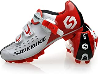 Zapatillas de Ciclismo para Adultos, Zapatillas de Bicicleta de Montaña Resistente al Viento Transpirable con Plantilla de Amortiguación