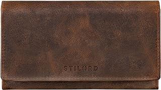 STILORD 'Marquesa' Leder Geldbörse Damen RFID Schutz NFC Portmonnaie Damen Vintage Geldbeutel Groß Quer mit Ausleseschutz ...