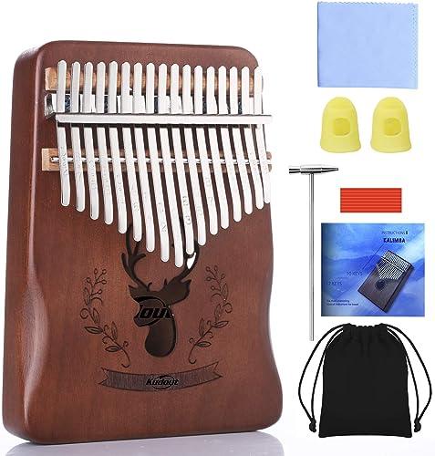 Kalimba 17 Clés Piano à pouce Professionnel Instrument de Musique avec Accessoires Doigt En Bois De Haute Qualité ave...