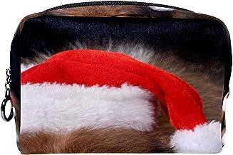 Cosmetische tas make-up tas reizen cosmetische zakje clutch portemonnee toilettas kleine man in santa hoed
