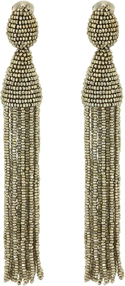 Oscar de la Renta Classic Long Tassel C Earrings