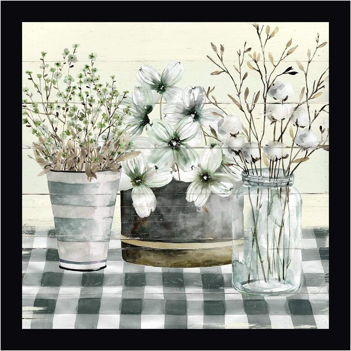 Spring Gingham II by Carol Robinson Framed Can 36