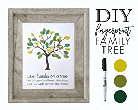 DIY Family Tree, Fingerprint Guestbook, Personalized Mothers Day Gift for Mom, Grandma, Grandmother, Grandparents, Dad, Grandpa, Grandfather, Stepmom, Stepmother, Mother in Law Birthday
