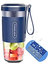 Portable Blender,AUZKIN Cordless Mini Personal Blender Small Smoothie Blender USB Fruit Juicer Mixer - Home Outdoor Travel Office - USB Rechargeable,IP68 Waterproof, BPA Free