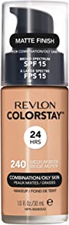 Revlon ColorStay Liquid Foundation For Combination/oily Skin, SPF 15 Medium Beige, 1 Fl Oz
