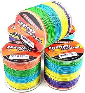 Baosity 300m PE Braid Saltwater Freshwater Fishing Line 100LB 45.3kg 0.6mm Colorful