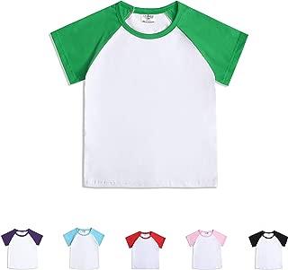 CloudCreator Toddler Baby Girls Boys Short Sleeve Shirts Raglan Shirt Baseball Tee Cotton T-Shirt
