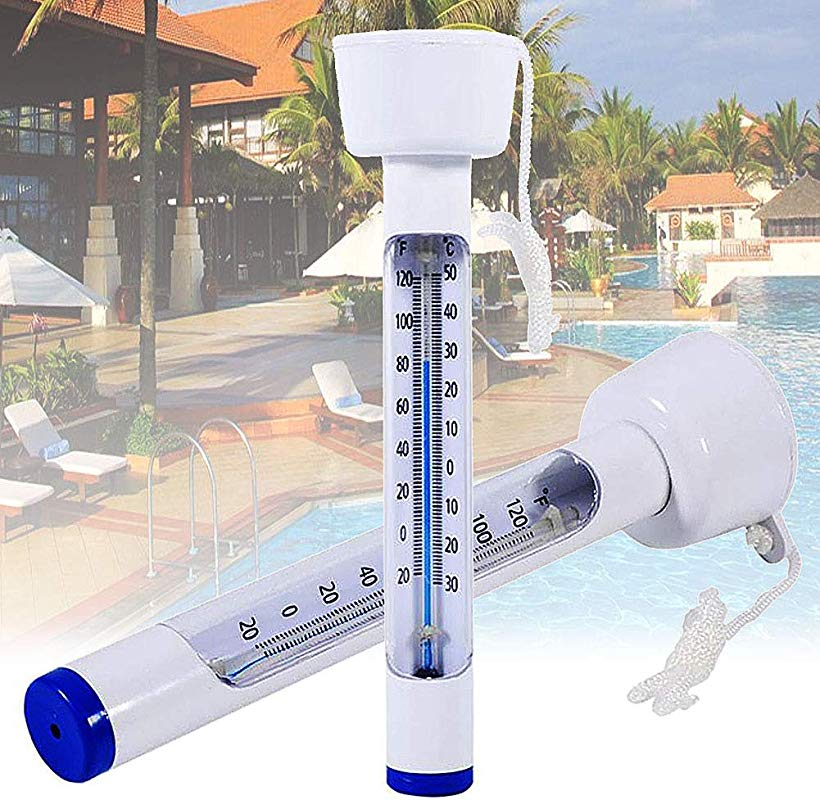 Jiecikou Floating Pool Thermometer Digital Swimming Pool Thermometer With String For Bath Water Spas Hot Tubs Aquariums Fish Ponds