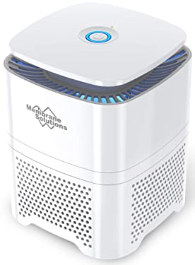 MSB3 HEPA Air Purifier for Home Bedroom with 3-in-1 True HEPA Filter, 27dB Portable Desktop Air Cleaner for Allergies, Pets and Smokers, Remove 99.97% Smoke, Allergens, Dust, Odor, Pollen