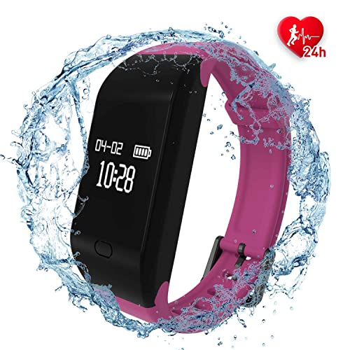 fitpolo Health Fitness Tracker HR - Moniteur d'activité étanche IP67 avec Moniteur de Sommeil, Compteur de Pas, Compteur de Calories et podomètre