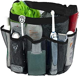 Anyumocz Portable Mesh Shower Caddy, Quick Dry Bath Organizer with 8 Storage Compartments for College Dorm, Travel, Gym and Camping