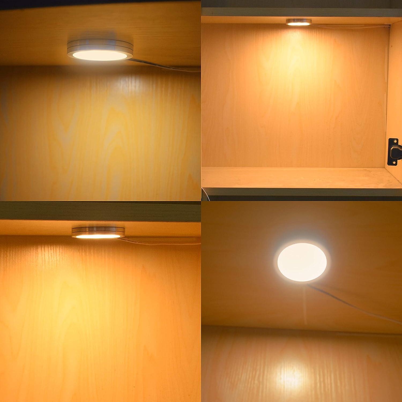 Lightess 8er Schrankbeleuchtung LED Unterbauleuchten Warmweiß Schrankleuchte LED Nachtlicht Schrank Lichter Wandleuchten Treppen Licht Vitrinenbeleuchtung für Kabinett Schränke Kleiderschrank Küche 8 Stücke Leuchte-warmweiß