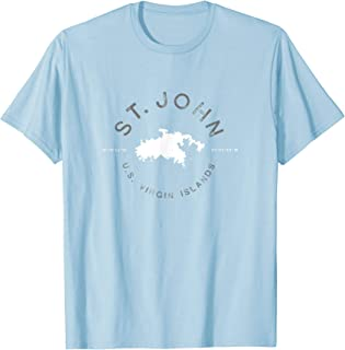 St. John USVI Graphic Vintage Retro T Shirt