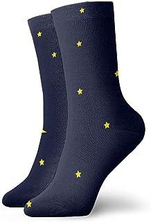 tyui7, Machovka Moon in Dark Night Sky Full of Stars Calcetines de compresión antideslizantes Cosy Athletic 30cm Crew Calcetines para hombres, mujeres, niños