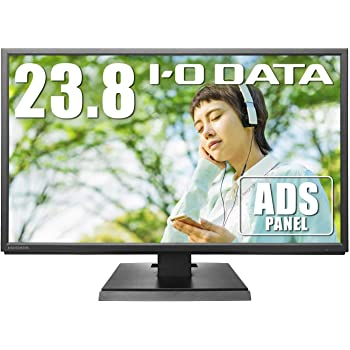 【Amazon.co.jp 限定】I-O DATA モニター 23.8型 ADSパネル 非光沢 HDMI×1 スピーカー付 3年保証 土日サポート EX-LDH241DB