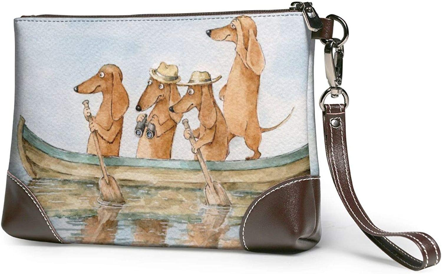 Funny Dachshund Seattle Mall Clutch Purses Pur Wristlet Wallet Leather Seattle Mall
