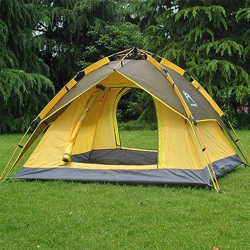 SUPREAN Tente Extérieure pour 3-4 Personnes Matériel de Camping Accessoires Auvent à Ouverture Rapide, étanche et Résistant aux Insectes