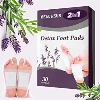Foot Patches 30 Pack Natural Feet Patch Stress Relief Relaxing Pads for Feet Health Care Anti-Stress & Sleeping Cleansing Mask - Upgraded 2 in 1 Patches