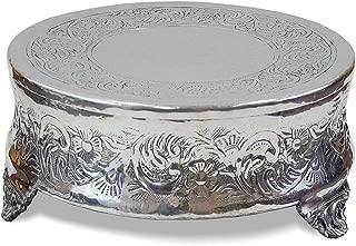 IOTC Holder Wedding Aluminum Cake Stand Silver Finish, 16