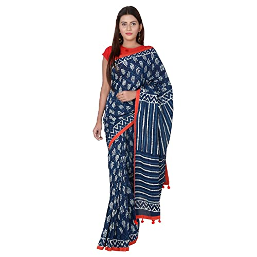f659dbe5b6532a Block Printed Sarees  Buy Block Printed Sarees Online at Best Prices ...