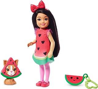 comprar comparacion Barbie Chelsea Disfraz de Sandía, Muñeca Morena con Accesorios y Mascota(Mattel Ghv71) , color/modelo surtido