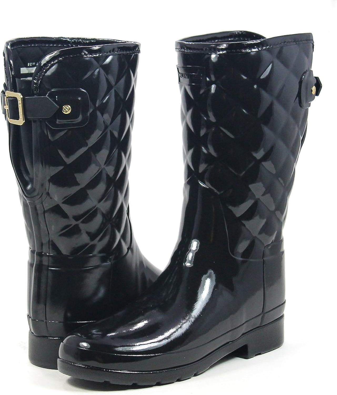 Hunter Boot Women's Refined Gloss Quilt Short Rain Boot