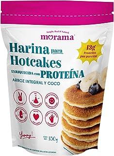 Morama Harina Para Hotcakes con Proteína Hecha con Harina de Arroz Integral y Coco y Enriquecida con 13 Gramos de Proteína...