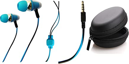 Ionix Basic Quality Earphones Under 200 with Earphone Pouch case/Earphones Under 100, for All 3.5 MM Stereo Pin/Earphones ...