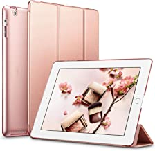 ESR Yippee Smart Case for iPad 2 3 4, Smart Case Cover [Synthetic Leather] Translucent Frosted Back Magnetic Cover with Auto Sleep/Wake Function [Light Weight] (Rose Gold)