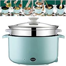 Casserole électrique Multifonctions Avec Panier Vapeur Poêle électrique Sauteuse électrique Hot Pot Poêle Frire Pot Soupe ...