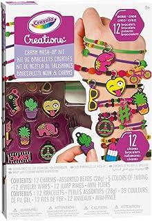 Crayola Creations Neon Charm Mash-Up Set, Craft Set, Bracelets, Girls Aged 8, 9, 10, 11, 12