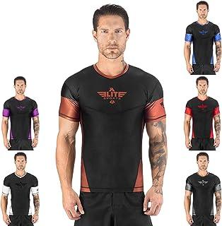 Elite Sports Short Sleeve Compression, MMA, BJJ, No-Gi, Cross Training Rash Guard