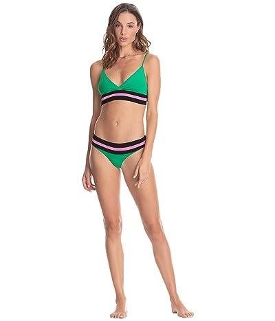 Maaji Grass Crisscross Four-Way Reversible Bikini Top Women
