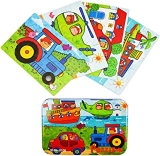Vileafy Jigsaw Puzzles for Kids Wooden Puzzles (Drivers)