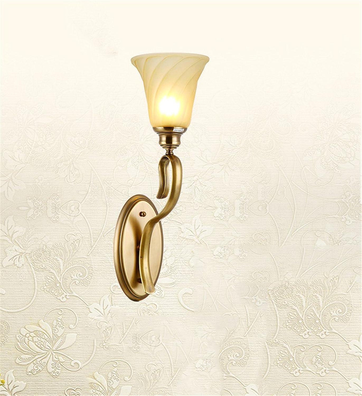 StiefelU LED Wandleuchte nach oben und unten Wandleuchten Lndliche Wohnzimmer Schlafzimmer Wand lampe Nachttischlampe Hyun aus voll Kupfer Licht balkon Licht Spiegel vordere Lampen, 150  520 mm breit