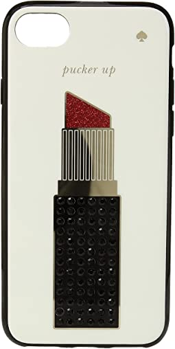 Kate Spade New York - Jeweled Lipstick Phone Case for iPhone® 7/iPhone® 8