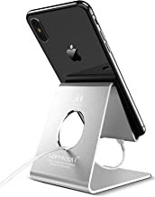 Cell Phone Stand, Lamicall Phone Stand : Cradle Dock Holder Compatible with All Android Smartphone Phone 11 Pro Xs Xs Max Xr X 8 7 6 6s Plus 5 5s 5c Charging, Universal Accessories Desk - Silver