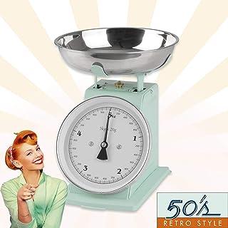 GOURMETmaxx - Báscula de Cocina analógica, diseño Retro, Color Verde