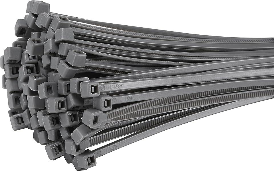 Fix&Easy Kabelbinder 3,6x300mm Silber grau anthrazit 75 Stück Set für Sichtschutz Windschutz Blickschutz Balkon