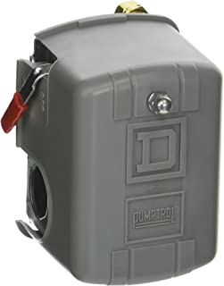 Square D by Schneider Electric 9013FHG32J52M1X Air-Compressor Pressure Switch, 125 Psi Set Off, 30 Psi Fixed Differential, 1/4