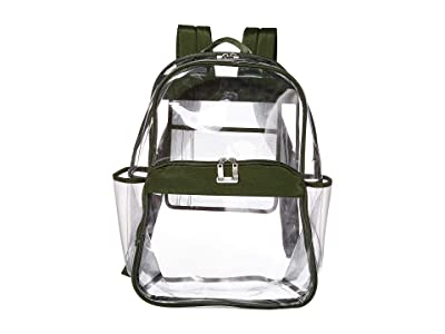 Baggallini Clear Event Compliant Large Backpack (Deep Green) Backpack Bags