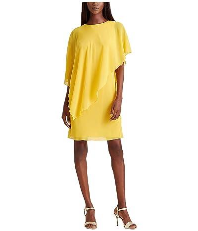 LAUREN Ralph Lauren Gaeline Day Dress (True Marigold) Women