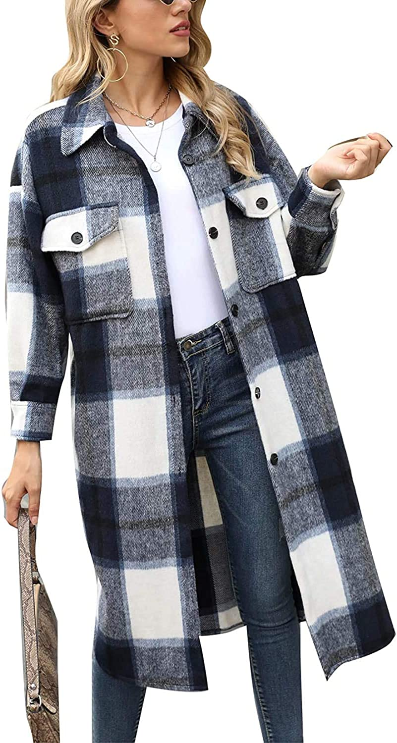 SO Max 63% Now on sale OFF SIMPOK Women's' Long Sleev Cardigan Plaid