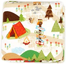 Fabric Editions Exclusive 36'' x 42'' Pre-Cut Campground Flannel, White