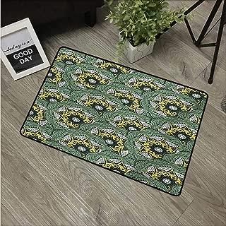 Mandala,Carpet Flooring Eastern Floral Motifs Pattern Bohemian Ornaments Vintage Artwork W 20