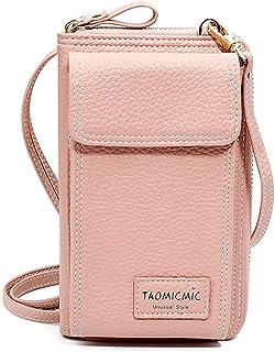 Elonglin Small Crossbody Bag Mini Cell Phone Purse Wallet Shoulder Bag for Women Girls Pink