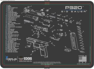 EDOG SIG P320 Cerus Gear Schematic (Exploded View) Heavy Duty Pistol Cleaning 12x17 Padded Gun-Work Surface Protector Mat Solvent & Oil Resistant