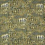 Feines Viskosegewebe Animalprint – hellgrün —