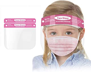 Kids Face Shield 2 Pack, Protective Safety Mask for Children, Transparent Anti-Fog Full Face Shield, Face and Eye Protecti...